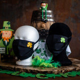 St. Patrick's Day Clover Face Masks
