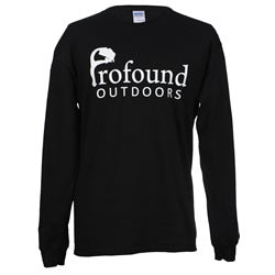 Profound Outdoors Long Sleeve Black Tee