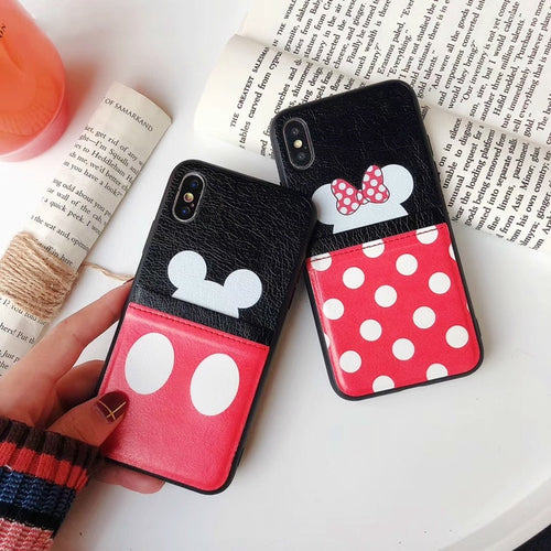 Disney Mickey Mouse Minnie Mouse iPhone Case with Card Holder