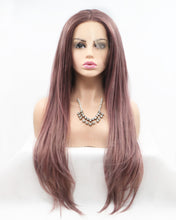 Load image into Gallery viewer, Monica |  Fashion Dusty Pink Long Straight Synthetic Hair Lace Front Wig