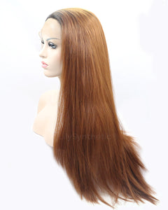 Allison | Gorgeous Ombre Long Straight Synthetic Hair Lace Front Wig
