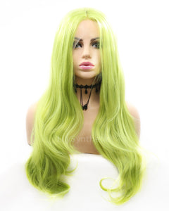 Brianna | Lovely Green Long Natural Wavy Synthetic Hair Wig