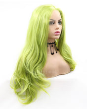 Load image into Gallery viewer, Brianna | Lovely Green Long Natural Wavy Synthetic Hair Wig