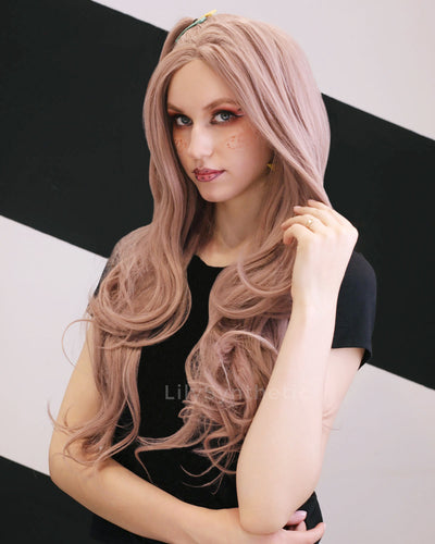 Emma |  Fashion Long Wavy Synthetic Hair Lace Front Wig LYSN002