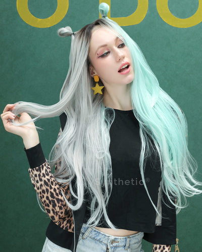 Zoe | Unique Ombre Long Natural Straight Synthetic Hair Wig