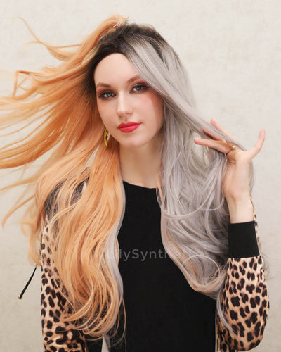 Leah | Fashionable Ombre Long Natural Straight Synthetic Hair Wig