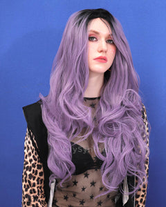 Alice | Charming Lavender Ombre Long Natural Wavy Synthetic Hair Wig
