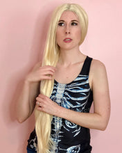 Load image into Gallery viewer, Vivian | Alluring Blonde Long Natural Straight Synthetic Hair Wig