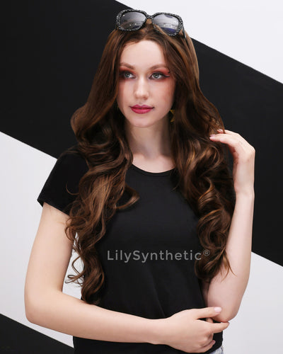 Emery | Vintage Brown Long Natural Wavy Synthetic Hair Wig