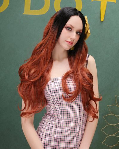 Abigail | Gorgeous Ombre Long Wavy Synthetic Hair Lace Front Wig