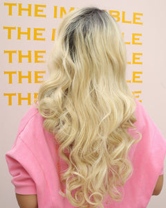 Amelia |  Amazing Blonde Ombre Long Wavy Synthetic Hair Lace Front Wig