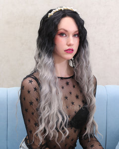 Audrey | Graceful Gray Ombre Long Wavy Synthetic Hair Wig
