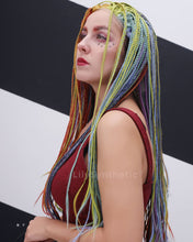 Load image into Gallery viewer, Caroline | Splendid Rainbow Color Long Synthetic Hair Braided Wig