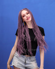 Load image into Gallery viewer, Emilia | Elegant Lavender Long Synthetic Hair Braided Wig