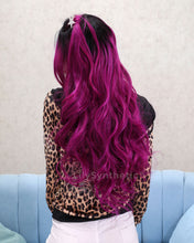 Load image into Gallery viewer, Harper | Charming Purple Ombre Long Wavy Synthetic Hair Lace Front Wig