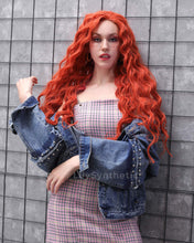 Load image into Gallery viewer, Layla | Stunning Red Solid Long Wavy Synthetic Hair Lace Front Wig