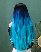 Load image into Gallery viewer, Lillian | Trendy Blue Balayage Long Natural Straight Synthetic Hair Wig