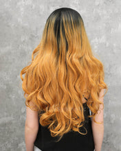 Load image into Gallery viewer, Luna | Vintage Golden Blonde Ombre Long Natural Wavy Synthetic Hair Wig