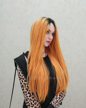 Load image into Gallery viewer, Madison | Splendid Orange Ombre Long Natural Straight Synthetic Hair Wig