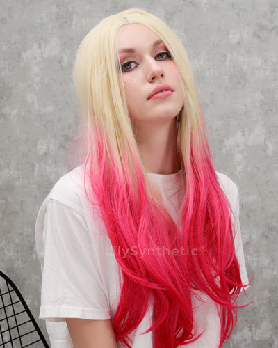 Mila | Fascinating Blonde Ombre Long Wavy Synthetic Hair Lace Front Wig