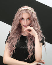 Load image into Gallery viewer, Savannah | Sweet Dusty Pink Long Wavy Synthetic Hair Wig