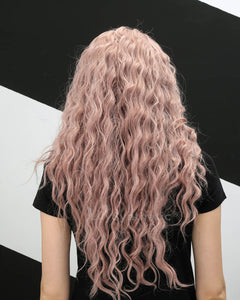 Savannah | Sweet Dusty Pink Long Wavy Synthetic Hair Wig
