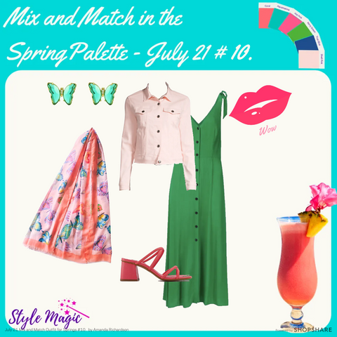 July 21 outfit for Springs with Whistles Hanna dress