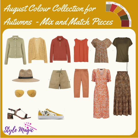 Mix and match Capsule Wardrobe style in the warm, soft, deep Autumn colour palette