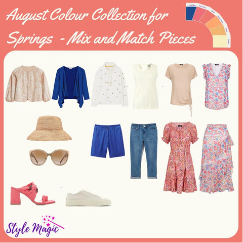 August 21 Mix and Match Capsule Wardrobe in the Spring Palette