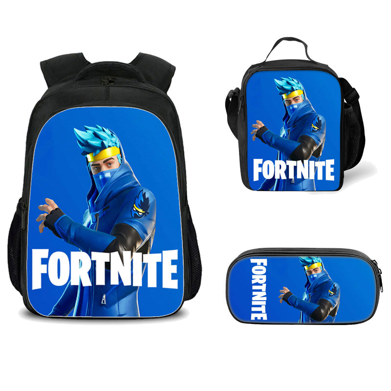 Fortnite Backpack 3D Printed Fashion Schoolbag with Lunch Bag Pencil Case 3 Pieces Set for Teens Kids Boys Girls Game Fans/ Style 2, One Size