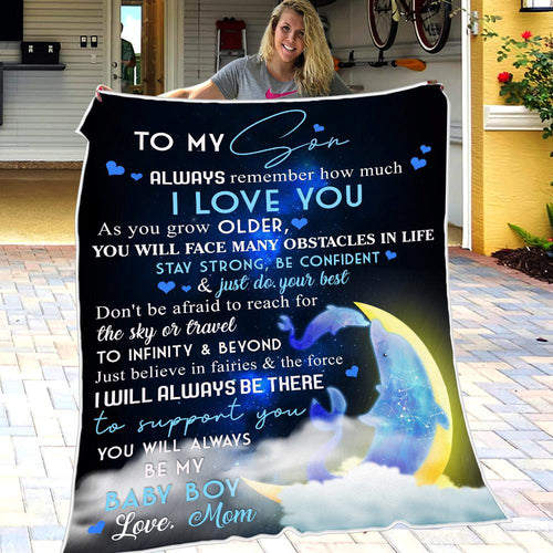 Mom to Son - Just Believe In Fairies & The Force - Blanket