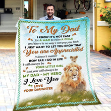 Cargar imagen en el visor de la galería, Daughter To Dad - You Are Aprreciated - Blanket