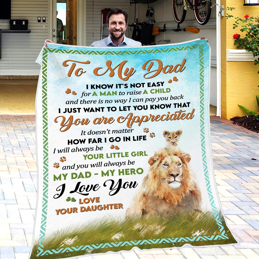 Daughter To Dad - You Are Aprreciated - Blanket