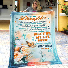 Cargar imagen en el visor de la galería, Mom To Daughter - You Are My Love My Life - Blanket
