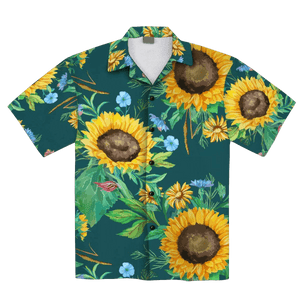 African Sunflower 1 Hawaiian Shirt