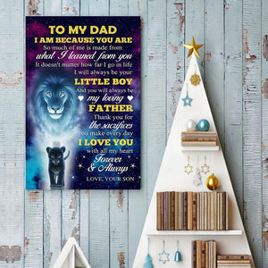 Son To Dad - I Love You With All My Heart - Vertical Matte Posters