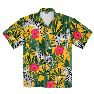 Leopard Tropical Hawaiian Shirt
