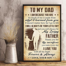 Cargar imagen en el visor de la galería, Son To Dad - Thank You For The Sacrifices You Make Every Day - Vertical Matte Posters