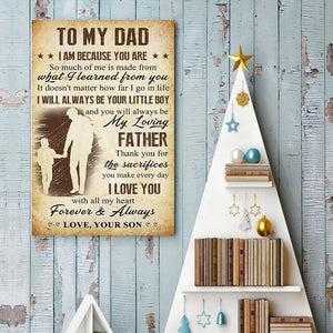 Son To Dad - Thank You For The Sacrifices You Make Every Day - Vertical Matte Posters