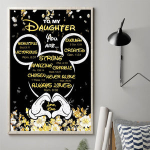 Dad to Daughter - You Are Never Alone - Vertical Matte Posters
