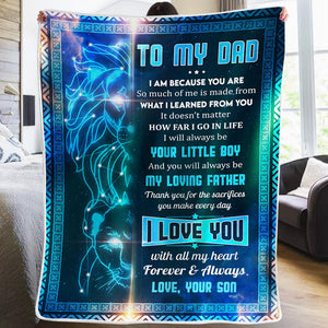 Son To Dad - My Loving Father - Blanket