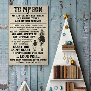 Mom To Son - My Little Boy Yesterday - Vertical Matte Posters