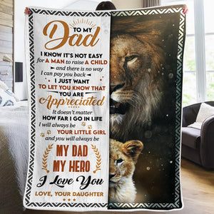 Daughter To Dad - i Will Always Be Your Little Girl - Blanket