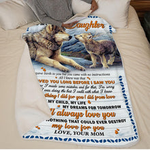 Cargar imagen en el visor de la galería, Mom to Daughter - You Are My Child, My Life, My Dreams For Tomorrow - Blanket