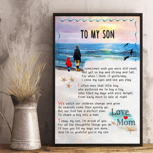 Mom To Son - I Often Miss That Little Boy - Vertical Matte Posters