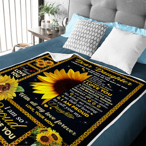 Mom to Daughter - Life Gave Me The Gift Of You - Blanket