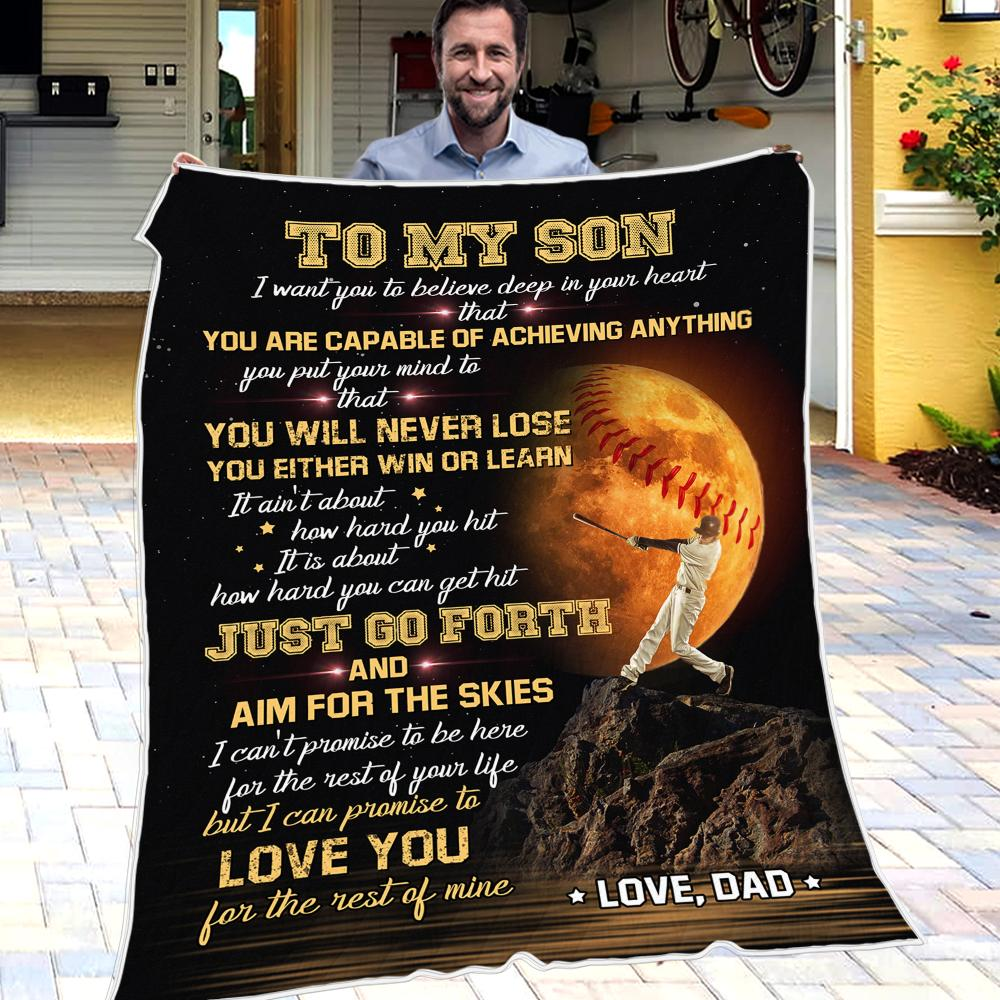 Dad To Son - I'm So Grateful You Are My Son - Blanket
