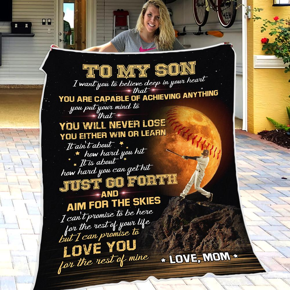 Mom To Son - I'm So Grateful You Are My Son - Blanket