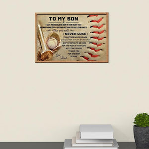 Dad To Son - Just Go Forth And Aim For The Skies - Horizontal Poster