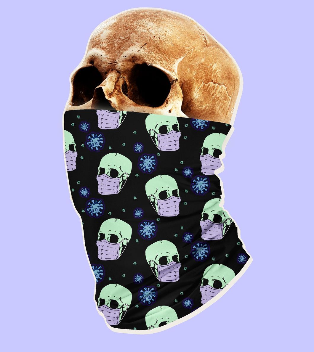 Virus Skull Neck Gaiter